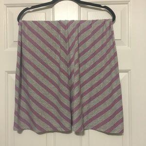 Faded Glory Skirts - Diagonally Striped Purple and Gray Skirt